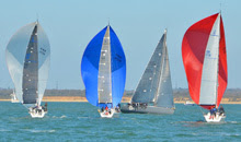 J/111s sailing Warsash Spring series- on Solent