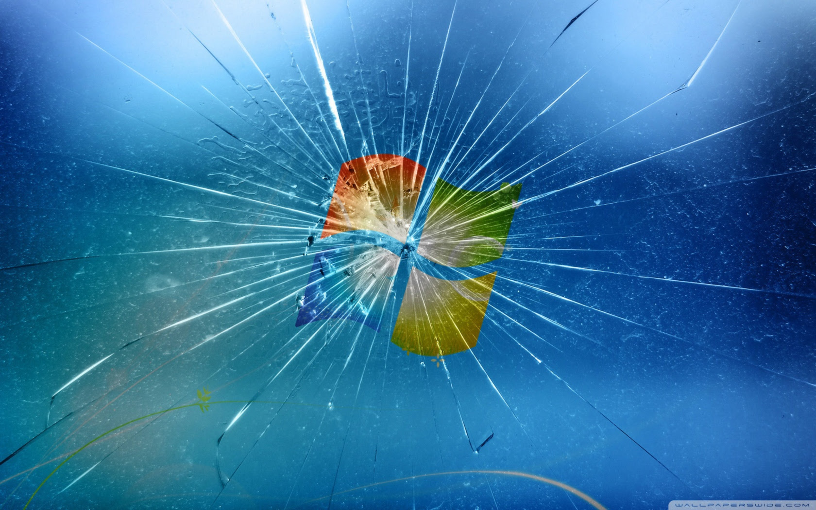 Windows 7 Cracked Screen Wallpaper Dom Wallpapers
