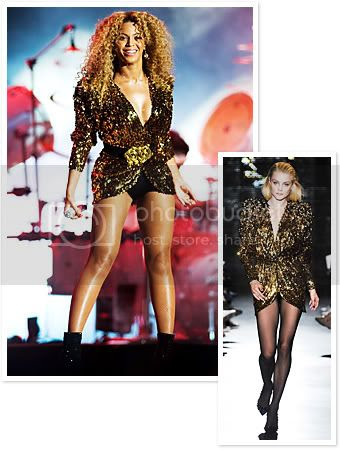 Beyonce Gold Glastonbury Fashion Style