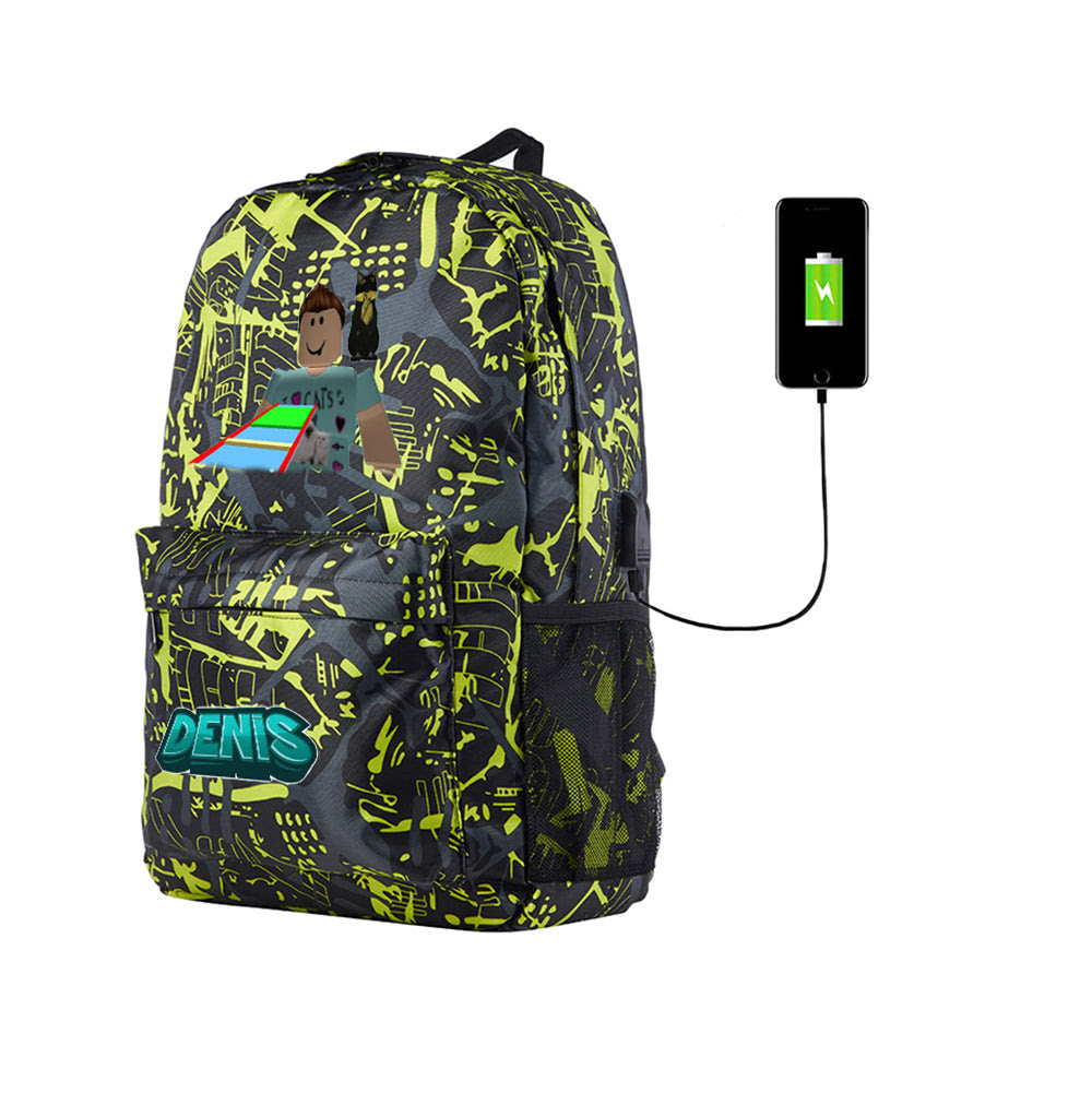 Roblox Denisdaily Backpack For School 17 Inch With Usb Charging Port - daily roblox com