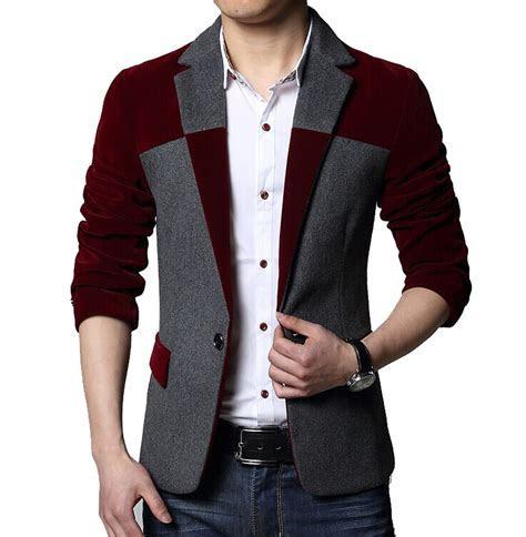 2015 Autumn Mens Blazer Dress Designs Casual Slim fit Suit