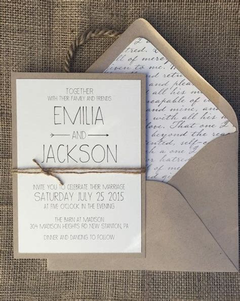 17 Best ideas about Simple Wedding Invitations on