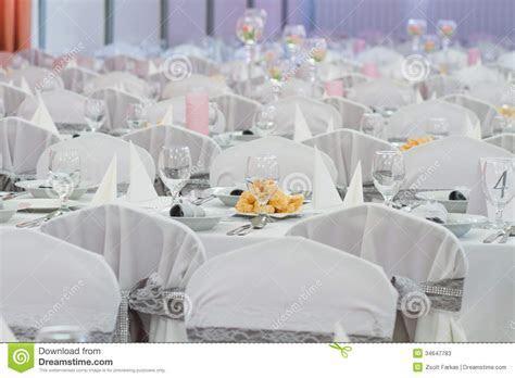 Elegant Table Setting For Wedding Stock Image   Image of