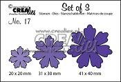 Set of 3 stansen no. 17 Bloemen 11 / Set of 3 dies no. 17 Flowers 11