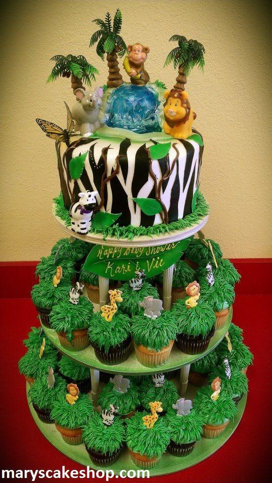 safari cakes | safari cake and cupcake combo.jpg
