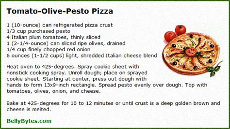 pizza recipe collection belly bytes