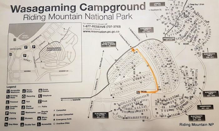 Wasagaming Campground Map Wasagaming Campground Map | Color 2018