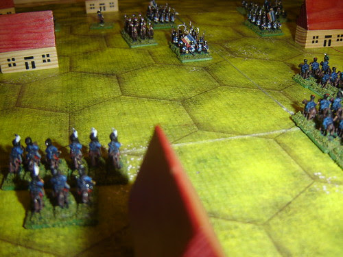 Prussian cavalry readies for attack on French right flank