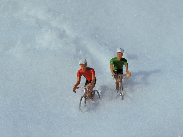 Dieter and Wolfgang making some turns...