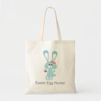 Easter Egg Hunter Tote Bags