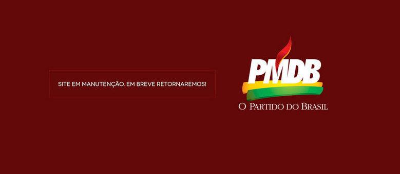 Mensagem que substitui página colocada pelo Anonymous no portal do diretório nacional do PMDB