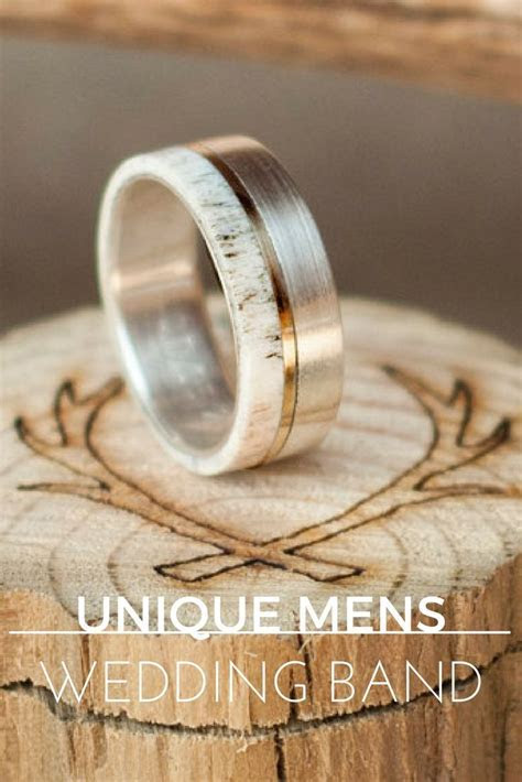 54 Stylish   Unique Mens Wedding Bands for 2019   Unique