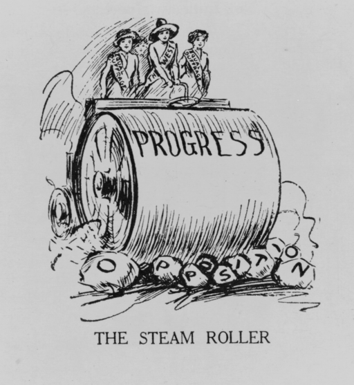 US SuffrageSteamrollerCartoon