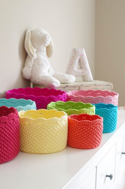 Crochet Storage love this