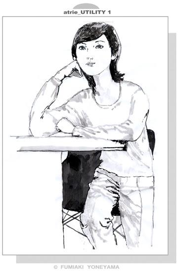 カフェで頬杖つく女 幸せのイラストレイジ イラスト人物