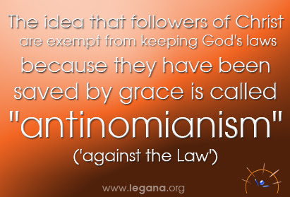 Exempt from God's Laws is not what grace is about