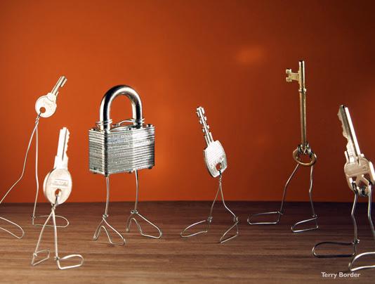 Funny bento objects by Terry Border  keys locker