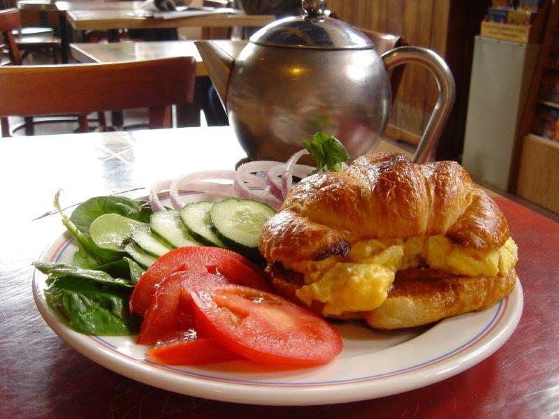 Croissant Veggie Breakfast Sandwich