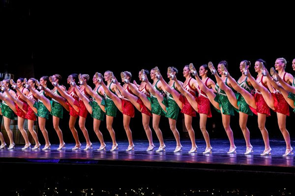"The Rockettes in the ""Radio City Christmas Spectacular."""