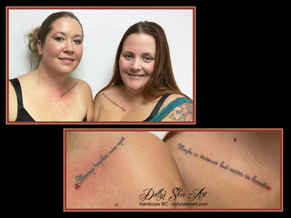 Melissa And Amber Dollys Skin Art Tattoo Kamloops Bc