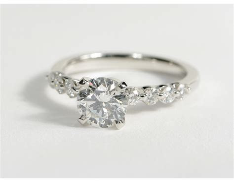 0.92 Carat Diamond Floating Diamond Engagement Ring