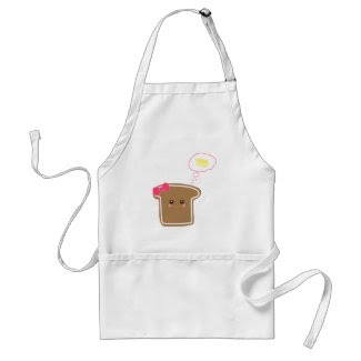 Kawaii Girly Toast n' Butter apron