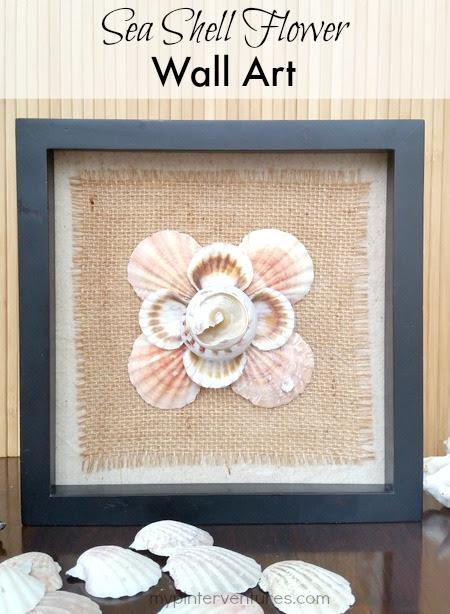 Diy Seashell Flower Wall Art My Pinterventures