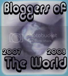 Bloggers of the World Award awarded by Chris