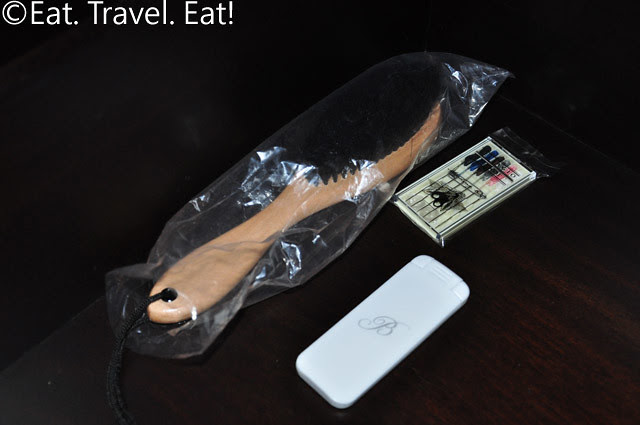 Lint Remover, Shoe Brush, and Sewing Kit for Tower Deluxe Room