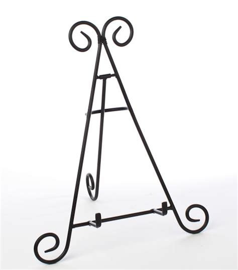 Black Wrought Iron Display Easel   Decorative Plates and