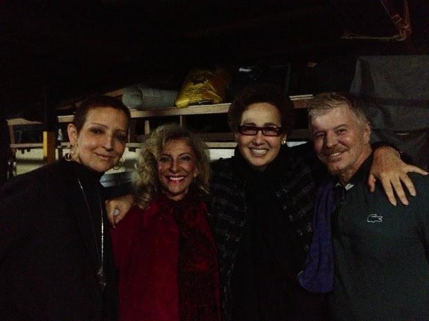 Betty Lago, Marília Pêra, Claudia Jimenez e Miguel Falabella (Foto: Divulgação)