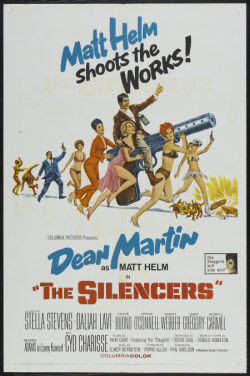 The Silencers US one sheet movie poster (1967)