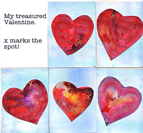 My Treasured Valentine - ATCs