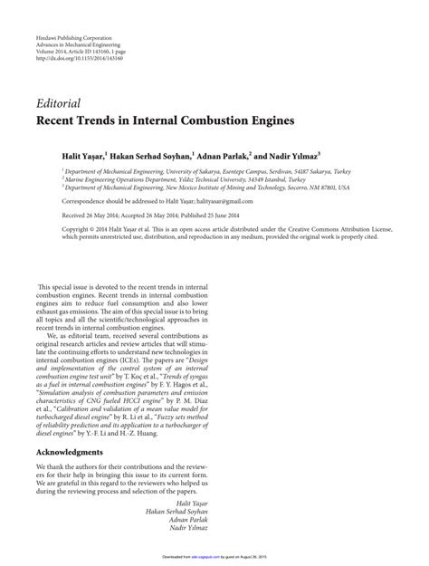 (PDF) RECENT TRENDS IN INTERNAL COMBUSTION ENGINES