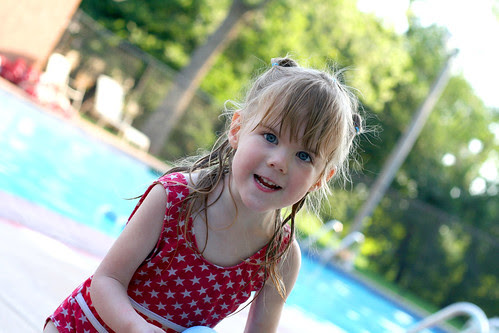 Piper at the pool