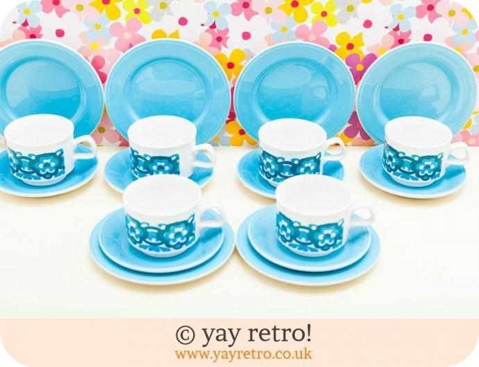 Staffordshire Potteries coffee cups, saucers and side plates