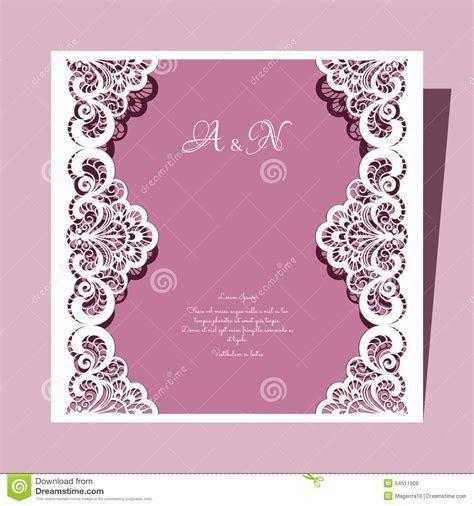 Elegant Lace Greeting Card, Wedding Invitation Or