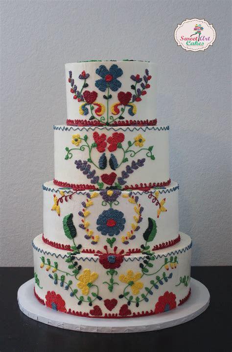 #Mexican #Embroidery #WeddingCake   Sweet Art Cakes   Cake