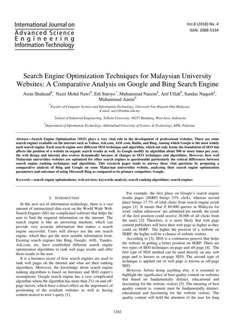 (PDF) Search engine optimization techniques for Malaysian