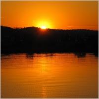 sunset nature lake hallwil
