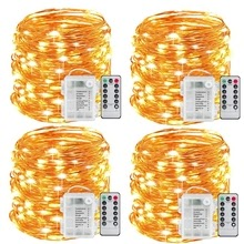 Fairy Lights Battery Operated 100LED String Lights Remote Control