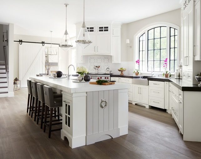 Kitchen. Transitional Kitchen. Transitiona kitchen design with white cabinets and gray island. #Kitchen #TransitionalKitchen #TransitionalKitchenDesign #TransitionalKitchenIdeas