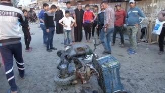 Moto que ha explosionat a Bagdad
