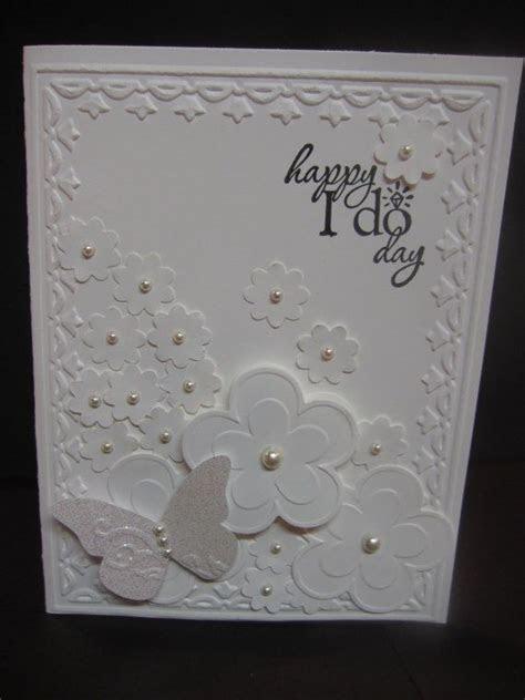 Stampin' Up Handmade Greeting Card: White Wedding