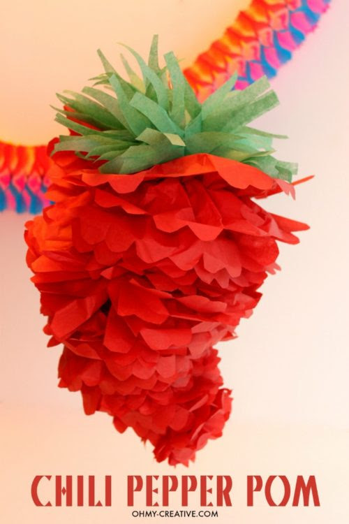 Cinco de Mayo Mexican Fiesta Chili Pepper Pom -Oh My Creative - HMLP 84 - Feature