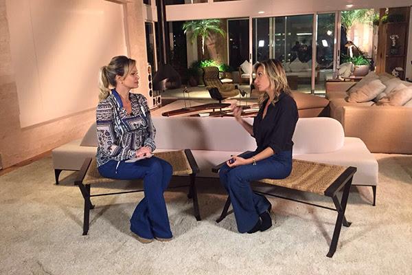 Luisa Mell é entrevistada por Eliana