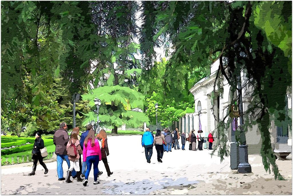 Puerta de entrada al jardín botánico