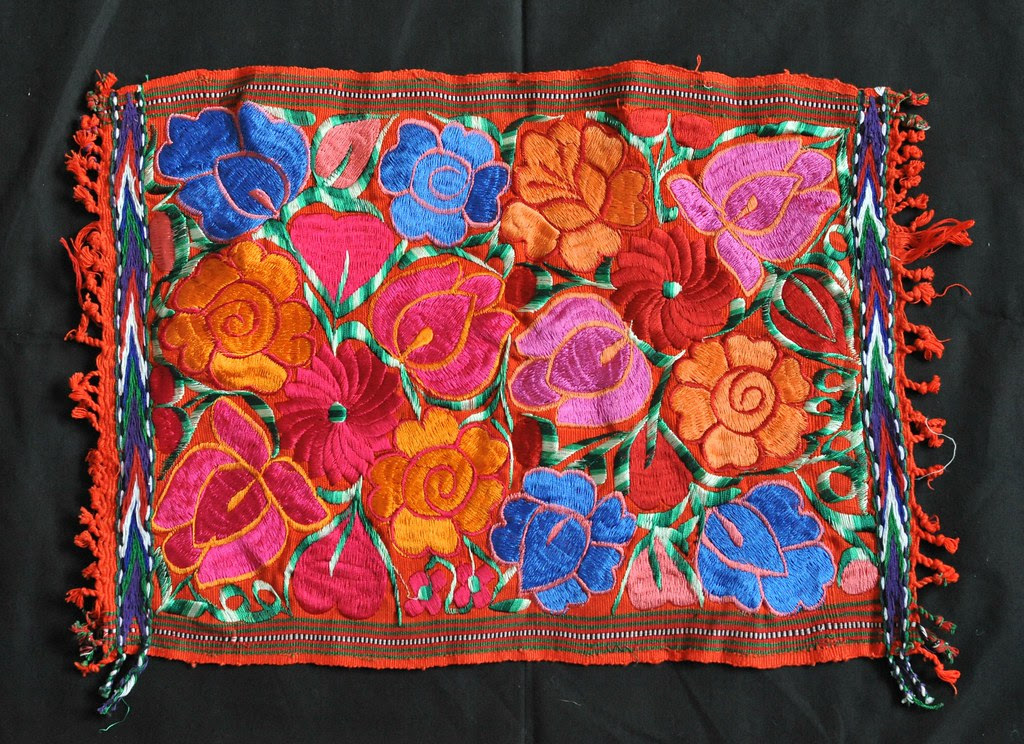 Guatemala Flowers Textile Embroidered Textiles Like This