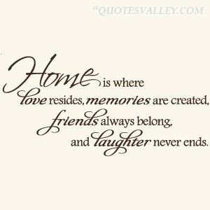 Home Is Where Love Resides Memories Are Creathed Home Quotes And