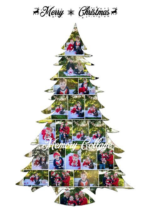 Family Christmas Tree Photo Collage   Memory Collage
